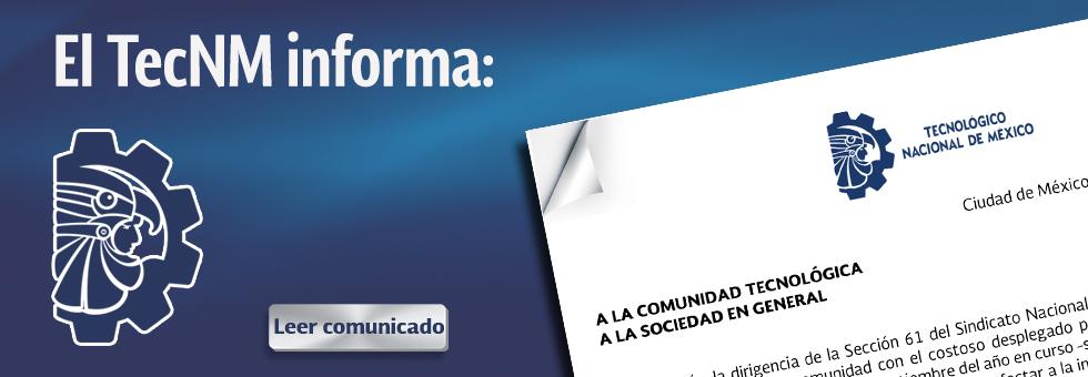 Comunicado del TecNM
